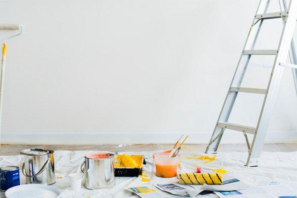 Tính diện tích sơn trong nhà