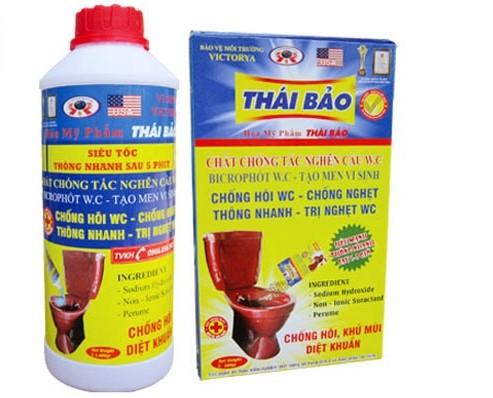 dung dịch thông cống nghẹt Thái Bảo