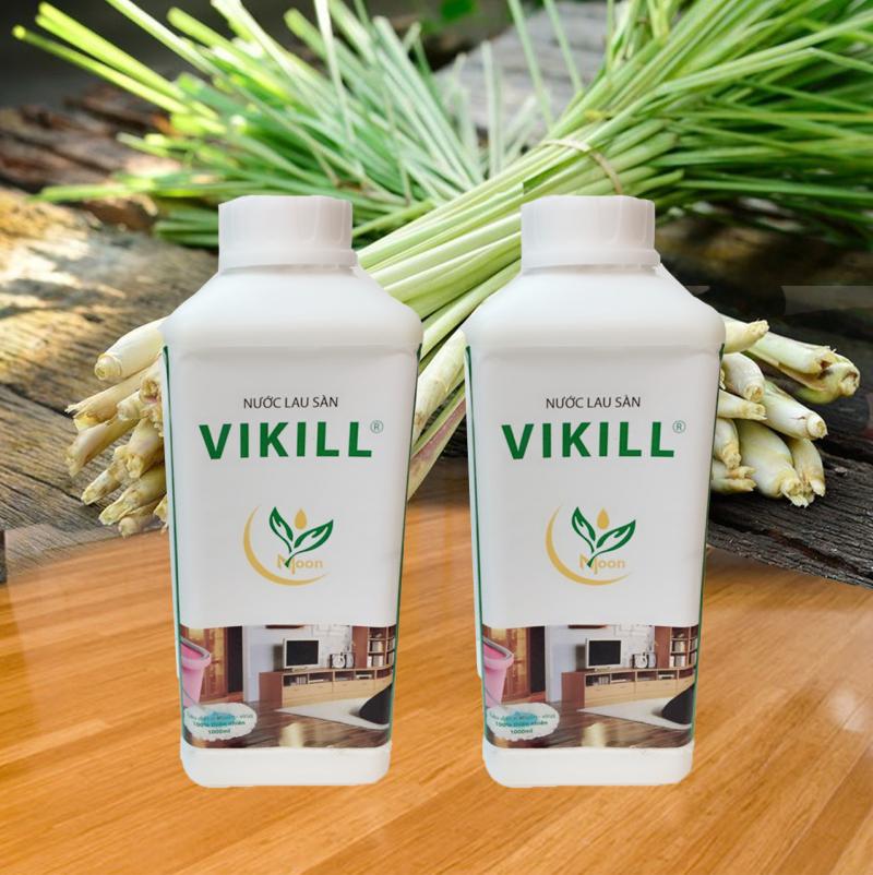 Nước lau sàn chống muỗi tinh dầu hương sả Vikill